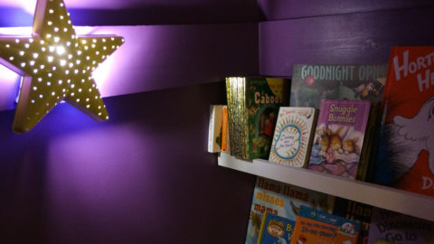 Kid's Book Nook From A Closet